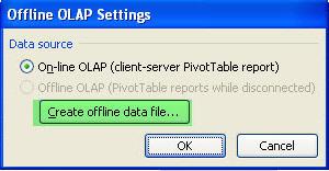 Figure 2 - Create offline data file
