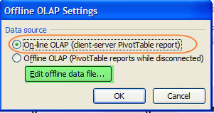 Figure 7 - Edit offline data file