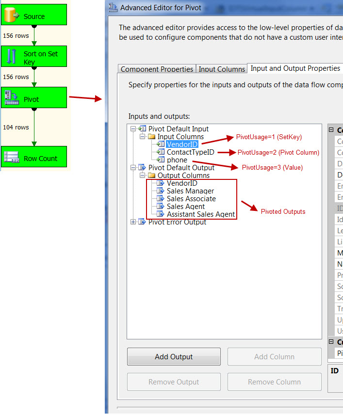 Screen Capture 3 - SSIS Pivot Transformation does not require Aggregation Function