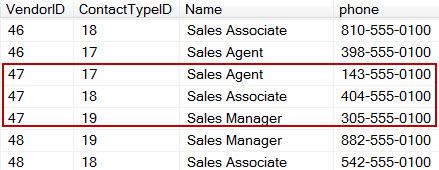 Screen Capture 1- Vendor Contacts (Pivot Input)