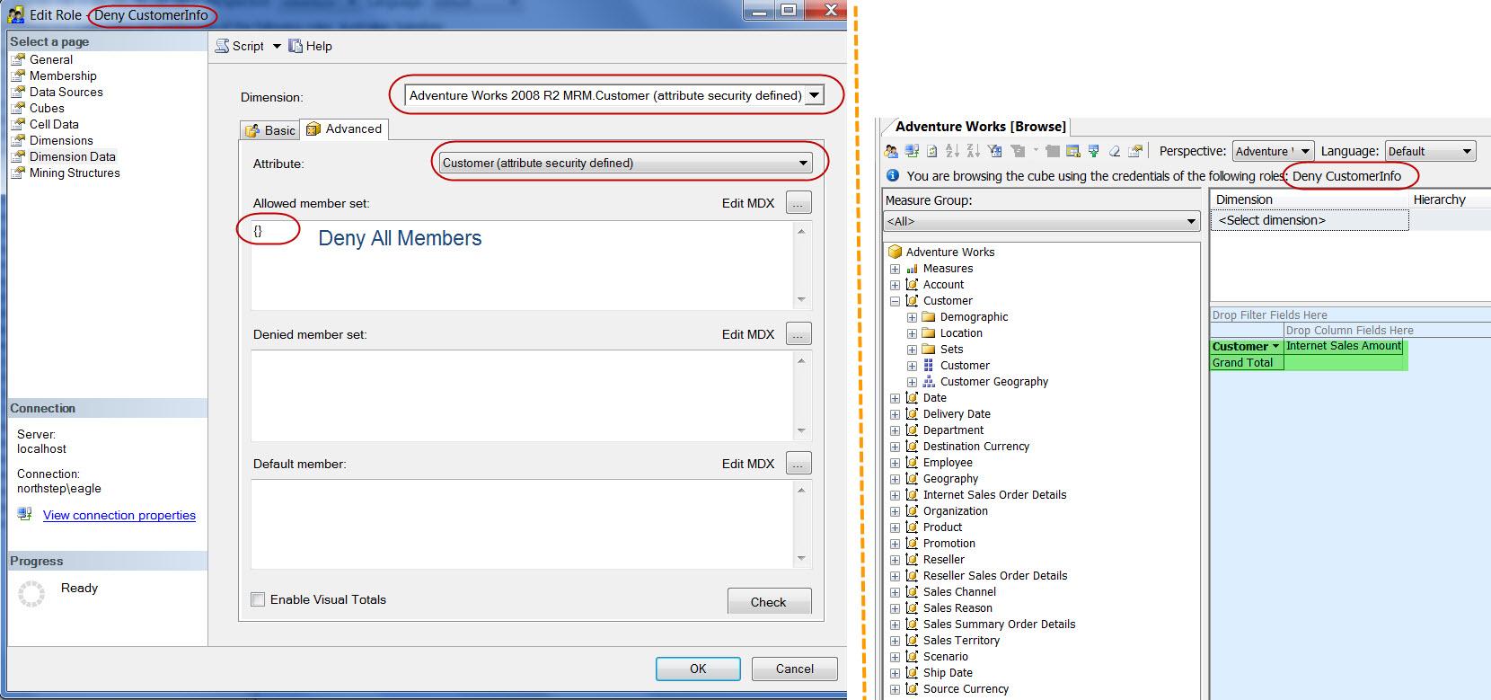 Screen Capture 2 - Deny CustomerInfo Role