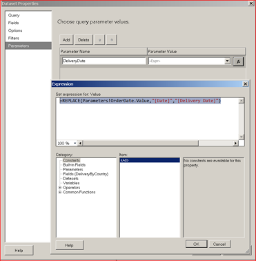 SSRS: Parameter Expression for MDX Datasets Having Role Playing